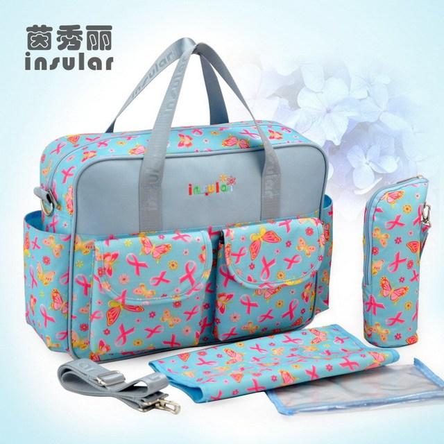60e1ab0cb1ef5 Insular Baby Shoulder Diaper Bags Durable Nappy Bag Mother Mummy Baby  Travel Carry Bag Mom Maternity Mummy Handbag Baby Care