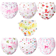 5Pcs/Lot Children Lace Cotton Underwear Baby Girl Briefs Short Panties Newborn Underpants Infant Girs Cute Training Pants