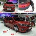 Car Bumper Lip Deflector de Labios Para TOYOTA Corolla/Spoiler Delantero falda Para Auto Tuning Ver/Kit de Carrocería/tira