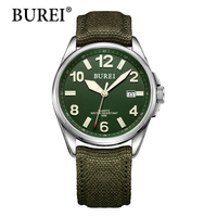 Top Military Watch BUREI Brand Watches Men New Fashion Digital Wristwatches Leather Canvas Male Clock Waterproof
