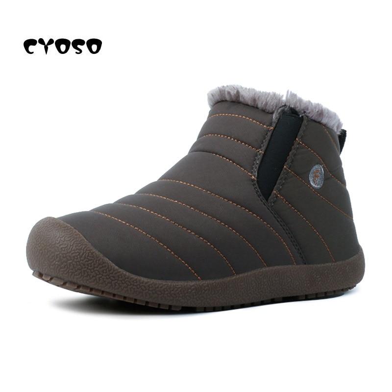 bf0a52b1 Zapatos Tamaño Zapatillas Botas Mujer Gran 35 Par Fondo Piel De Negro gris  48 khaki azul Mujeres Caliente Impermeable Invierno Deporte Antideslizante  Cyoso ...