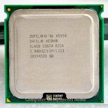 Close intel core 2 Quad Q9650 intel xeon X5450 Quad Core Server LGA 771 CPU with
