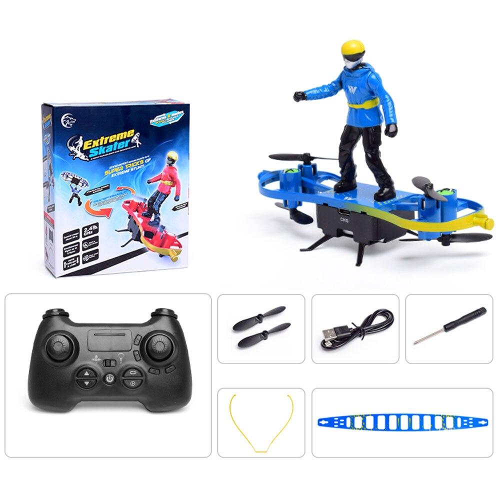 RC самолет дистанционного управления игрушка двойной режим Смешные Мальчики самолеты парашют самолет-истребитель - Цвет: blue