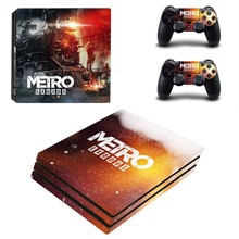 Metro Exodus PS4 Pro Skin Sticker For Sony PlayStation 4 Console and Controllers PS4 Pro Skin Sticker Decal Vinyl
