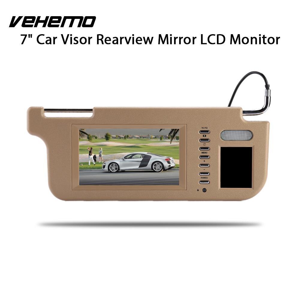Vehemo 7 TFT LCD Touch Car DVD Monitor Sunvisor View Monitor Rear View Camera Car Sun Visor Monitor Left Or Right touch 7inch car sun visor dvd tv media screen&rear view silver backup monitor camera kits