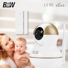 BW Smart IP Камеры 720 P HD Беспроводной Сети Камера + Датчик Двери 2 Способ Аудио PnP Wi-Fi Камера Крытый Камеры Безопасности Wi-Fi BW12G