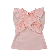 Adorable Toddler Kids Baby Girls Ruffle Princess Dress Clothes Outfits  Toddler Adorable Baby Girls Summer Pink Princess Dresses df9feab2146a