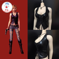 1/6 Scale Yuna Costume Female Leather Vest Corset Top Game Figure Clothes For 12 Inches PH UD Action Figures Clothes