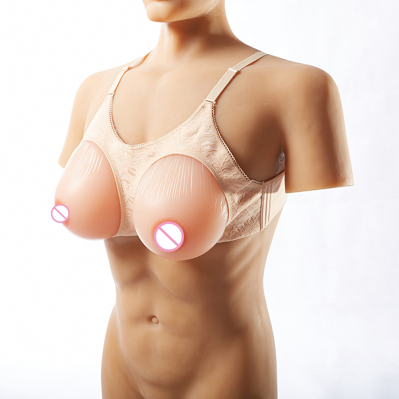 Silicone Breast Forms Mastectomy Artificial Silicone Fake Breast for Crossdressers and Transvestites Drag Queen Skin Color 1800g urban forms