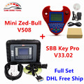 DHL Бесплатно SBB Silca V33.02 SBB Ключевые Программист + Смарт-Мини-Zed-Bull V508 Zedbull Zed Bull Auto Key Транспондера Без Лексем Ограничено