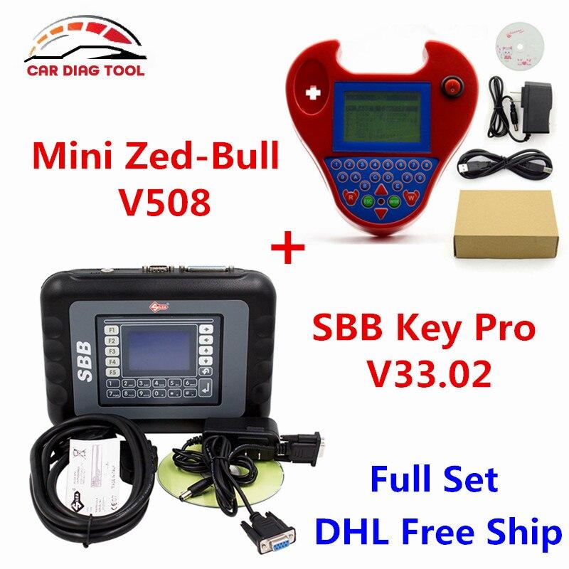 Prix pour DHL Livraison CFF Silca V33.02 CFF Programmeur principal + Smart Mini Zed-bull V508 Zedbull Zed Bull Auto Key Transpondeur Non Jetons Limitée