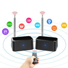 200 м 433 МГц беспроводной удлинитель аудиосигнала передатчик ресивер Поддержка 38K/56K инфракрасный пульт дистанционного управления сигналом для DVD DVR IPTV