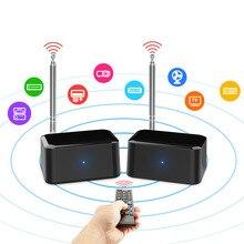 200M 433 Mhz Wireless Audio Extender Trasmettitore Ricevitore Remsupport 38 K/56 K Segnale di Controllo a Raggi Infrarossi a Distanza per dvd Dvr Iptv