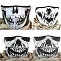 Multifunction Cosplay Bike Skeleton Mask Costume Halloween Mask Cycling Motorcycle Paintball Half Face Mask Winter