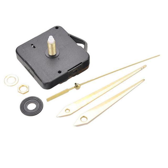 Parede Movimento do Relógio de quartzo Mecanismo DIY Repair Parte Set 22mm Eixo Longo Mãos