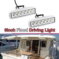 SPOT FLOOD 6INCH 18W LED BAR 12V LED WORK LIGHT FOR OFF ROAD BOAT TRUCK ATV