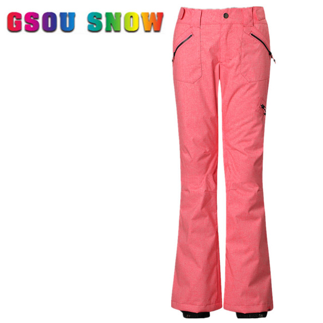 Gsou Snow Women Ski Pants Winter Professional Waterproof Snow Snowboard  Pants High Quality Outdoor Sports Skiing Trousers b1ce71926
