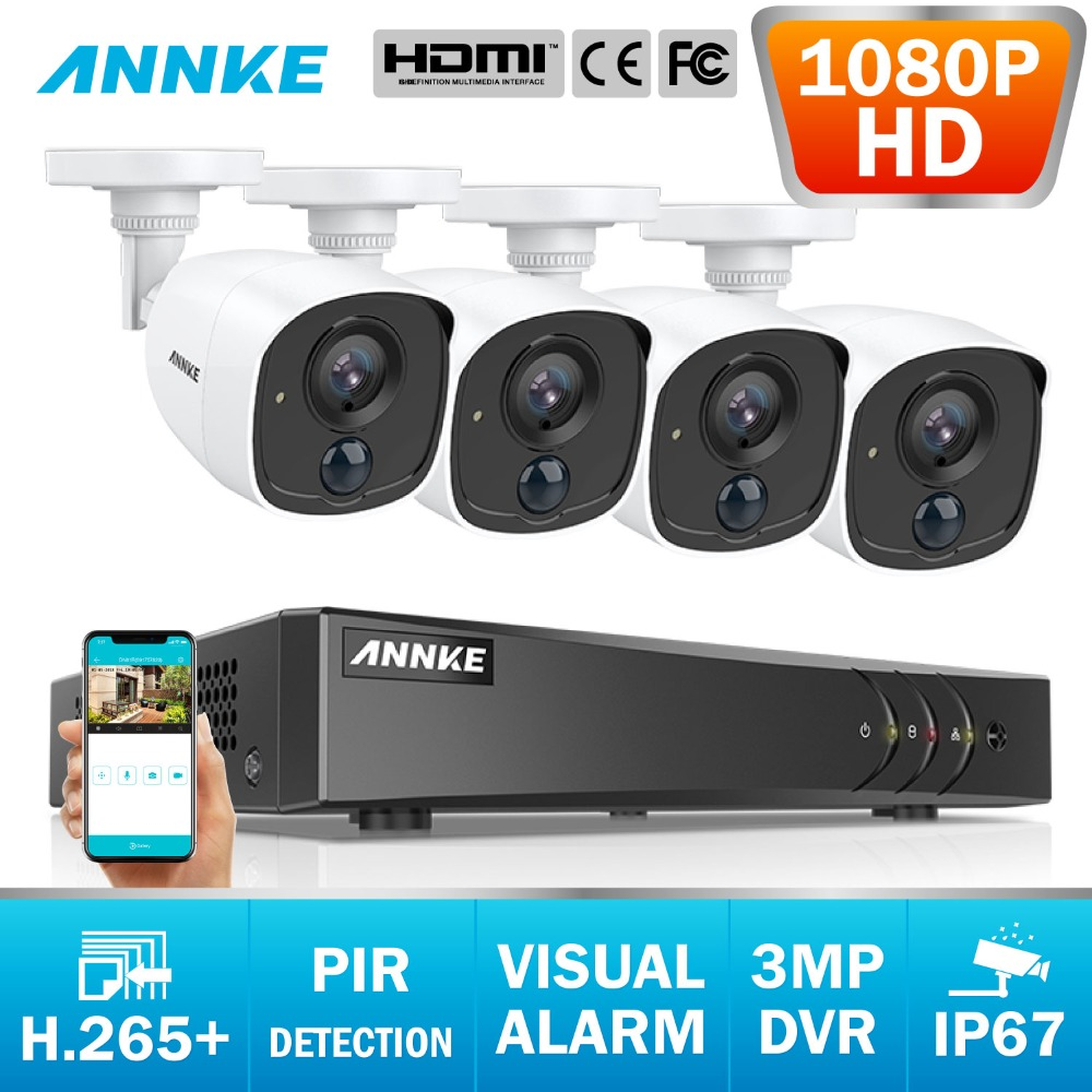 ANNKE 8CH 2MP CCTV Camera System 3MP 5in1 H.265+ DVR With 1080P HD Weatherproof Bullet Cameras Home Video Security SurveillanceANNKE 8CH 2MP CCTV Camera System 3MP 5in1 H.265+ DVR With 1080P HD Weatherproof Bullet Cameras Home Video Security Surveillance