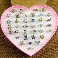 Wholesale Mix 36pcs Wholesale Jewelry Lots Mixed Lots Crystal Rhinestone Kid Children Rings