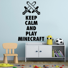 Cartoon Minecraft Game Wall Art Poster My World Arrow Wall Sticker Game Poster Decal Mural Removable Home Bedroom Decor AY1847 цена