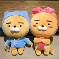 60cm soft Kakao Friends Ryan Lion Plush Toy Stuffed Kawaii Animal Cartoon Doll Cute Cocoa Kids Children Lover Valentine's Gift