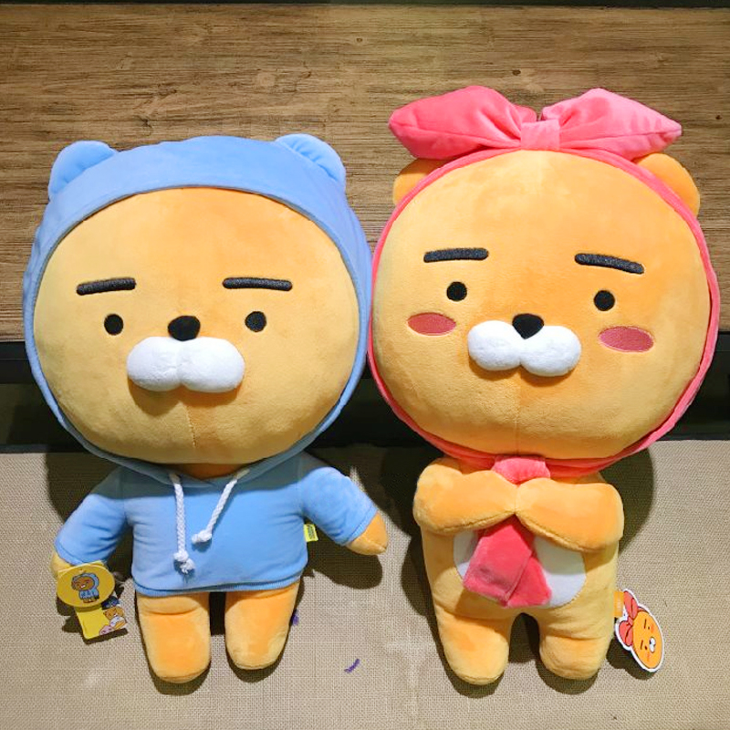 60cm soft Kakao Friends Ryan Lion Plush Toy Stuffed Kawaii Animal Cartoon Doll Cute Cocoa Kids Children Lover Valentine's Gift stuffed animal jungle lion 80cm plush toy soft doll toy w56