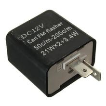 1 Pcs LED נצנץ 12V 2 פין מתכוונן תדר ממסר איתות חיווי עבור הונדה קוואסאקי עבור סוזוקי וכו