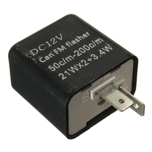 1 Pcs LED Flasher 12V 2 Pin Einstellbare Frequenz Relais Blinker Anzeige Für Honda Kawasaki Für Suzuki Etc