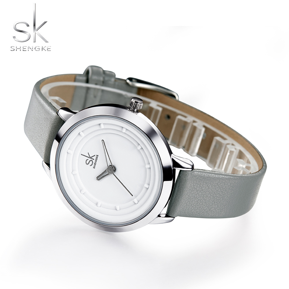 SK Pure White Women Daily Watches Brand Fashion Quartz-watch Women Wristwatch Clock Relojes Mujer Dress Lady Watch Montre Femme 2017 gift for lady enmex simple design pure white wristwatch fresh and clean style lovely lady fashion clock quartz watches