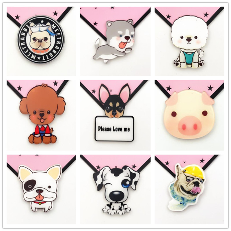 Cartoon Dog Cute Pig Badge Plastic   Badges For Icon On  Acrylic Badges