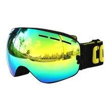 COPOZZ sunglasses ski goggles men and women spherical double anti-fog ski goggles cocker myopia professional 1Pcs 2016 new