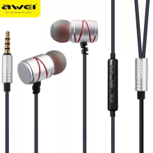 Awei ES 910TY Earphone Rose Gold Earphones Headset earphone with Microphone Noise Cancelling For Phone