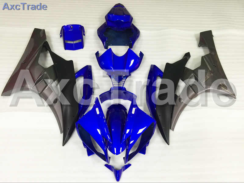 Motorcycle Fairings Kits For Yamaha YZF600 YZF 600 R6 YZF-R6 2006 2007 06 07 ABS Injection Fairing Bodywork Kit Blue Black A889 hot sales yzf600 r6 08 14 set for yamaha r6 fairing kit 2008 2014 red and white bodywork fairings injection molding