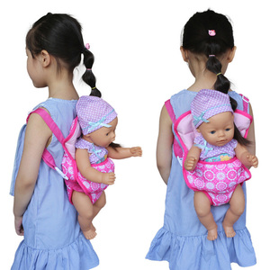 Education Early Girl Accessories Gift Doll Backpack Toy Baby Carrier Handmade Childhood Kids(China)