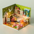 24 DIY wooden Handcraft dolls house 3D Model  miniatures kit child heart & birthday gift and english  instrution