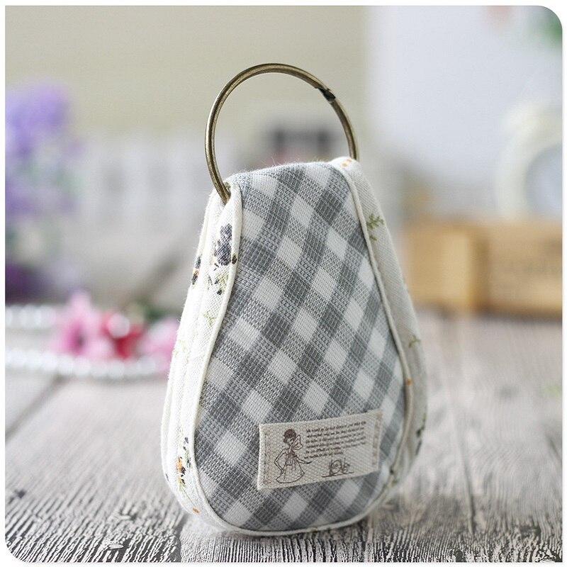 Mini Wallet Small-Key Purse Coin-Change Women Bolso Cotton Plaid for Girls Pouch-Bag