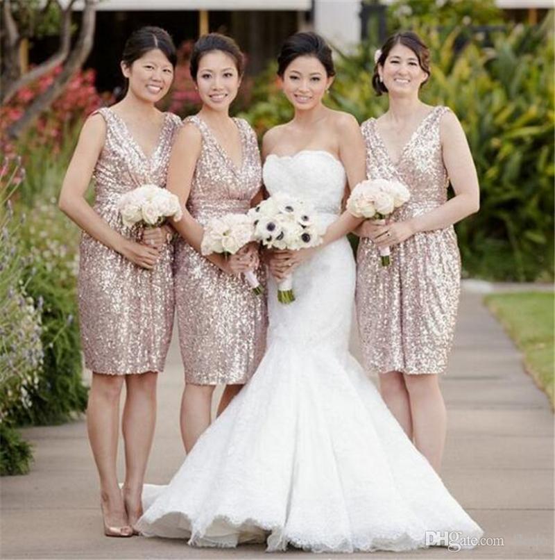 Popular Rose Gold Dress Knee Length-Buy Cheap Rose Gold Dress Knee ...