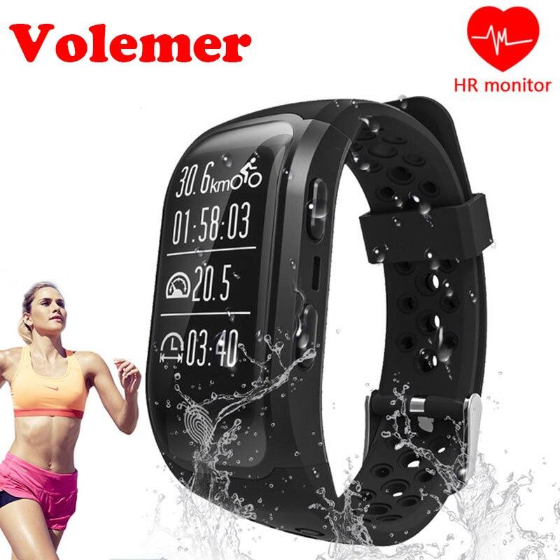 Volemer S908 GPS Smart Band IP68 Waterproof Sports Wristband Bluetooth 4.2 Multiple Sports Heart Rate Monitoring G03 Smartband цена
