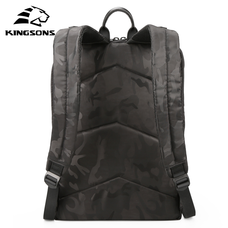 Kingsons 남자 배낭 15.6 인치 노트북 배낭 대용량 여성 숄더 가방 학생 캐주얼 가방 발수-에서백팩부터 수화물 & 가방 의  그룹 2