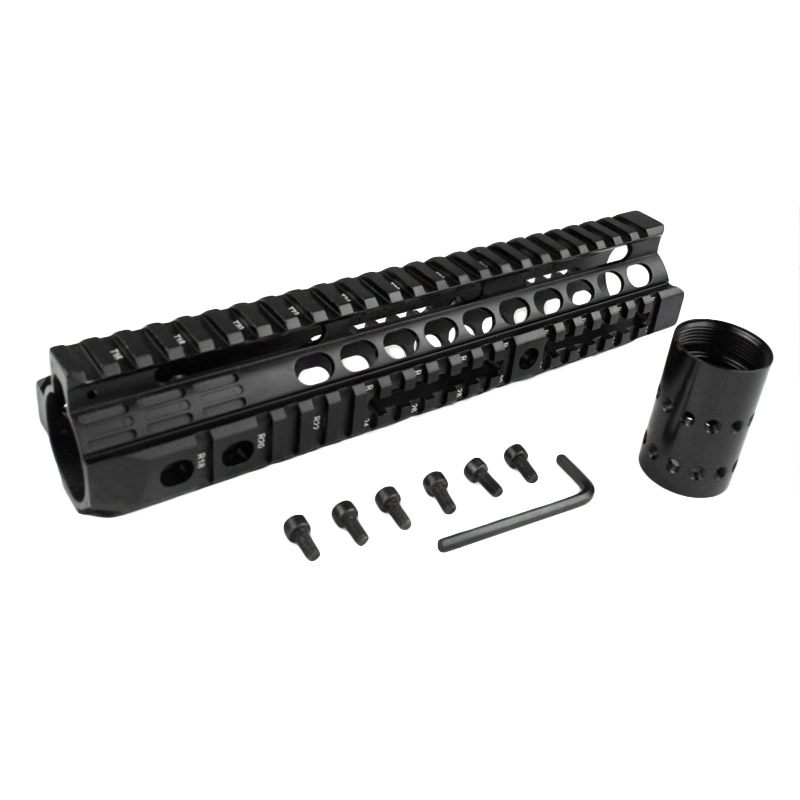 New high quality of 10.0 inches for AEG M4 / M16 Tactical Handguard Rail System BK new separable quick installation metal picatinny rail system tactical handguard rail system for aeg m4 free shipping
