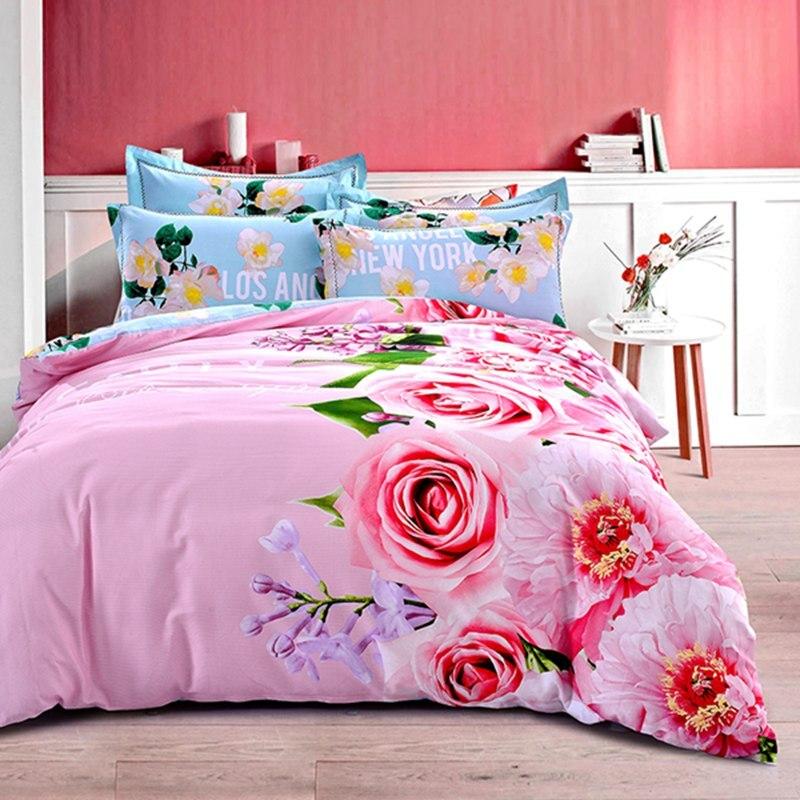 Textiles Para El hogar 100% Algodón Encantador Chino Flores color de rosa de col