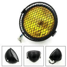 Vintage Motorcycle Headlight Cafe Racer Head Light Decorative Lights Modified Motorbiker VintageHead Light With Metal Mesh