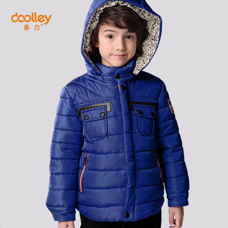 DOOLLEY Boy Hooded Cotton Coats 2017 New Arrival Autumn Winter Outerwear Kids Thick Warm Parkas Size 110-140 cm 2017 new women autumn winter thick warm hooded cotton coats
