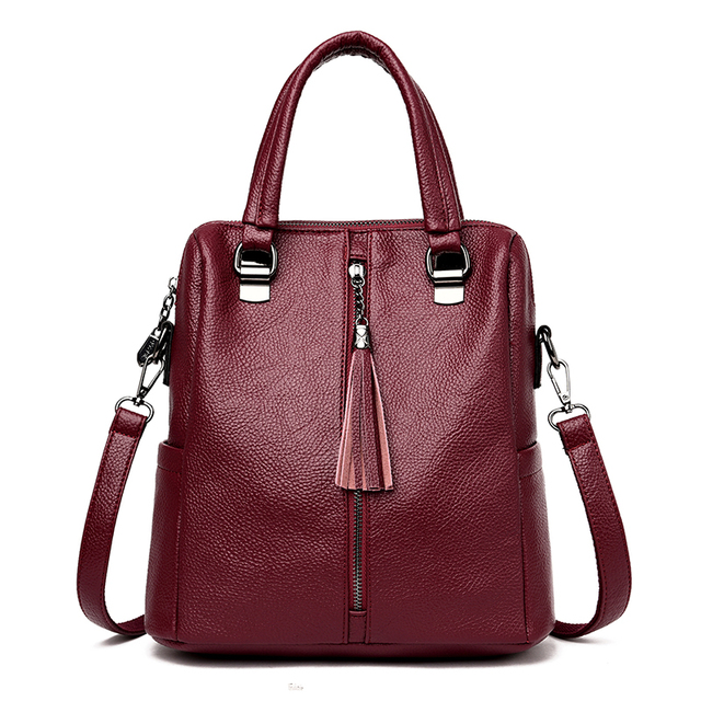 c4eb89d23cb US $22.35 35% OFF|Ladies Fashion Zipper PU Leather Tote bags Women's Famous  Brands High Quality Shoulder Crossbody Bag Black Female Messenger Bags-in  ...