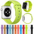 2017 42 MM 38 MM de Silicona Banda Deporte Con Conector Adaptador Para apple watch band 42mm 38mm correa para iwatch deporte hebilla banda