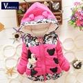 Novo 2016 Outono & Inverno Crianças Minnie Hoodies Jacket & casaco Meninas Do Bebê Roupa Dos Miúdos Toddle Casacos Casaco Quente 3 estilo