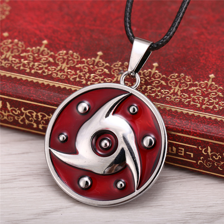 Hot Movie jewelry NARUTO series Alloy plating necklace Anime Uchiha Sasuke 2015 Hot Anime jewelry accessories Naruto pendant image