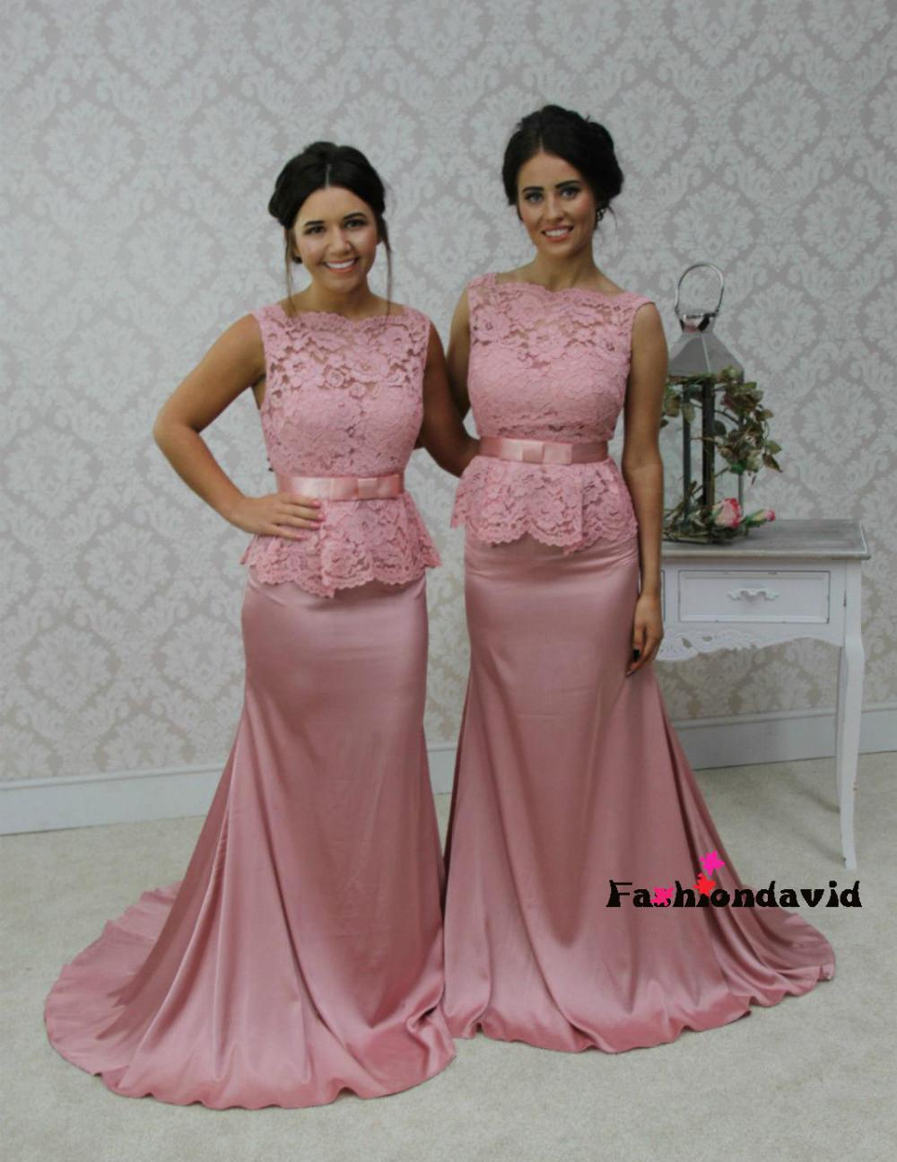 Popular long black bridesmaid dresses under 50 buy cheap long sexy 2017 mermaid high collar backless pink black satin lace long bridesmaid dresses cheap under 50 ombrellifo Image collections