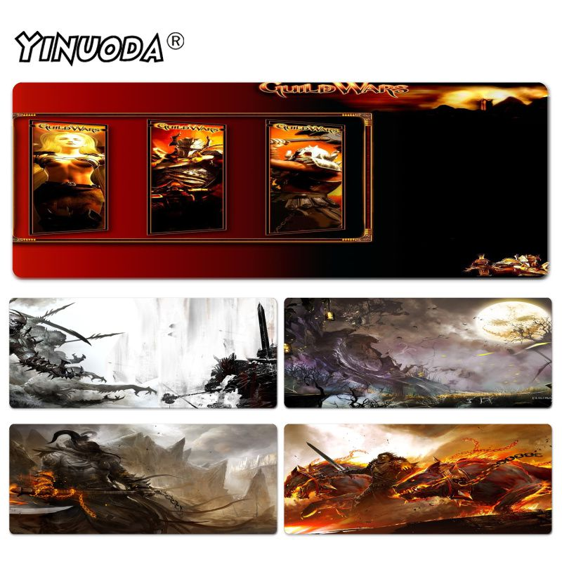 Yinuoda 2018 New Guild Wars High Speed New Lockedge Mousepad Size for 300*600*2mm and 400*900*2mm Game Mousepad