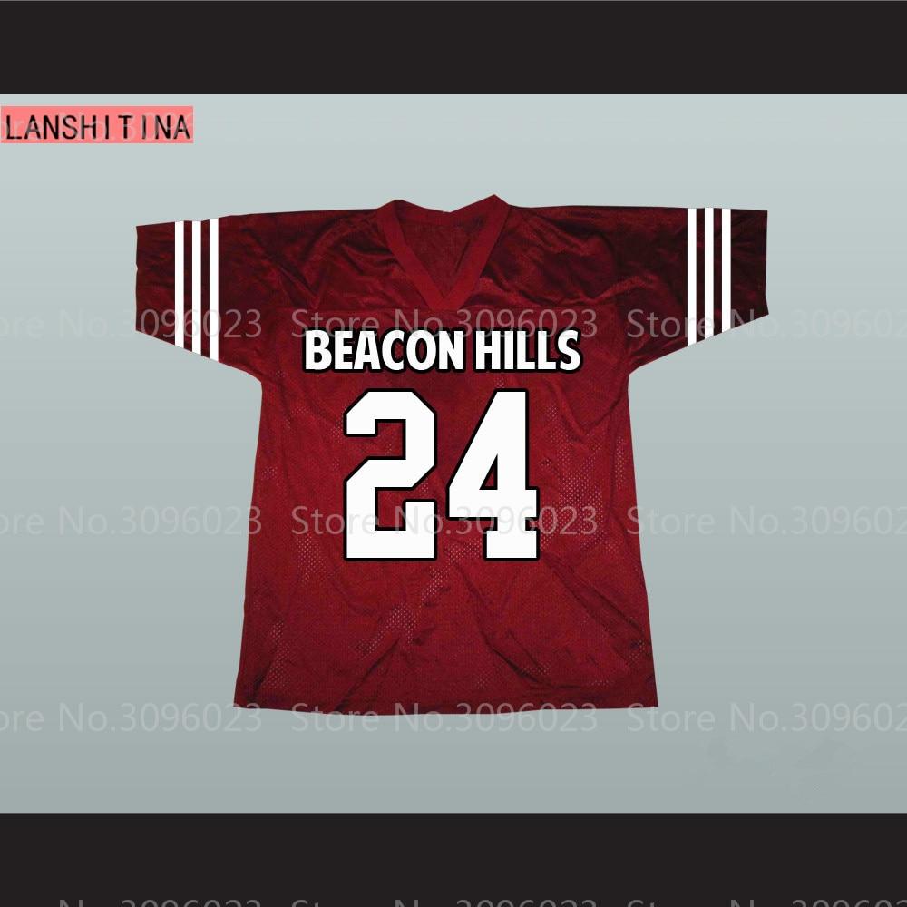 24 Stiles Stilinski 6# Danny Mahealani Beacon Hills Cyclones Maroon Lacrosse Teen Wolf American Football Jersey